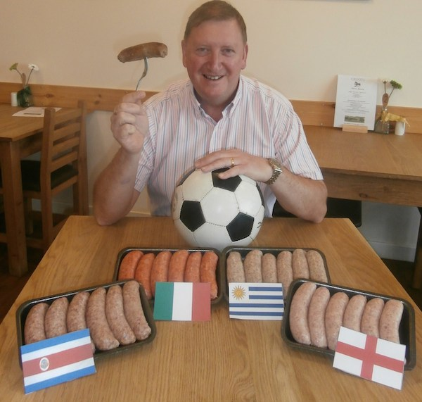 Steve Croot of Croots Farm Shop with his world cup sausages 2 copy
